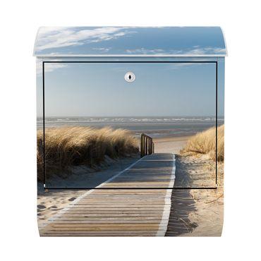 Design Briefkasten - Dünenweg - mit Zeitungsfach   – Bild 1