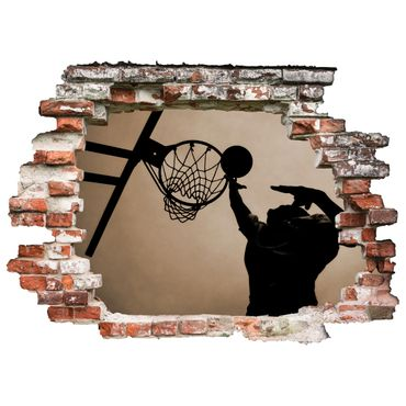3D-Wandtattoo Basketball