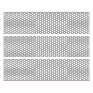 Möbelfolie Malm - Grey Dots – Bild 4