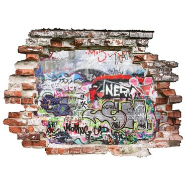 3D Wandtattoo Graffiti Wall