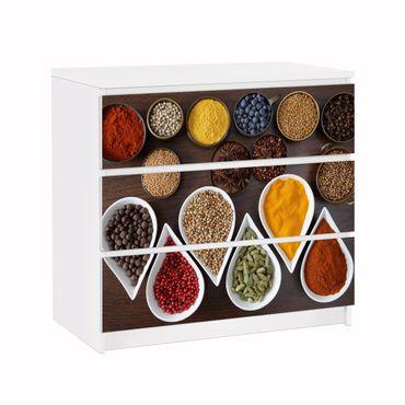 Möbelfolie IKEA Kommode - Selbstklebefolie - Design: Aromatische Gewürze