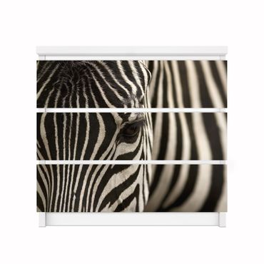 Möbelfolie IKEA Kommode - Selbstklebefolie - Design: Zebra – Bild 2