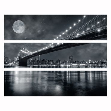Möbelfolie IKEA Kommode - Selbstklebefolie - Design: Brooklyn Bridge by Night – Bild 4