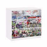 Möbelfolie IKEA Kommode - Selbstklebefolie - Design: Grafitti