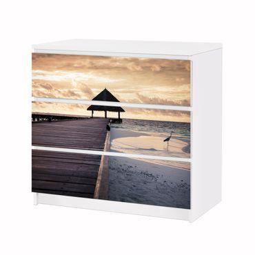Möbelfolie IKEA Kommode - Selbstklebefolie - Design: Tropical Beach – Bild 3