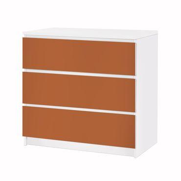 Möbelfolie IKEA Kommode - Selbstklebefolie - Design: Hasselnuss Braun – Bild 3
