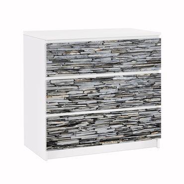 Möbelfolie IKEA Kommode - Selbstklebefolie - Design: Grey Stonewall – Bild 1