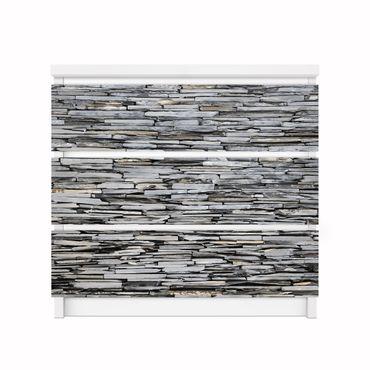 Möbelfolie IKEA Kommode - Selbstklebefolie - Design: Grey Stonewall – Bild 5