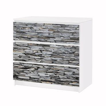 Möbelfolie IKEA Kommode - Selbstklebefolie - Design: Grey Stonewall – Bild 3