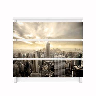 Möbelfolie IKEA Kommode - Selbstklebefolie - Design: Shining Manhattan – Bild 2
