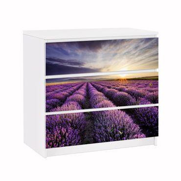 Möbelfolie IKEA Kommode - Selbstklebefolie - Design: Lavendel in der Toskana Provence
