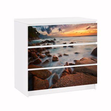 Möbelfolie IKEA Kommode - Selbstklebefolie - Design: Sunset Beach – Bild 1