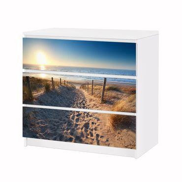 Möbelfolie IKEA Kommode - Selbstklebefolie - Design: Strandweg auf den Dünen – Bild 3