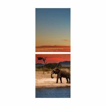 Möbelfolie Billy - Elefantenherde – Bild 4
