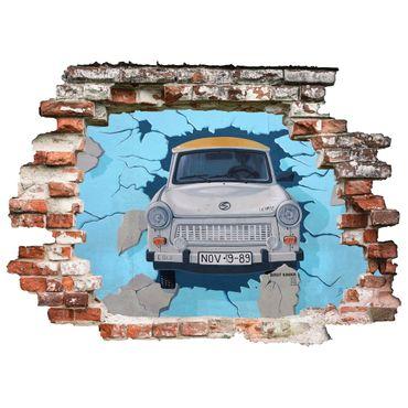 3D Wandtattoo Berliner Mauer Trabi Durchbruch