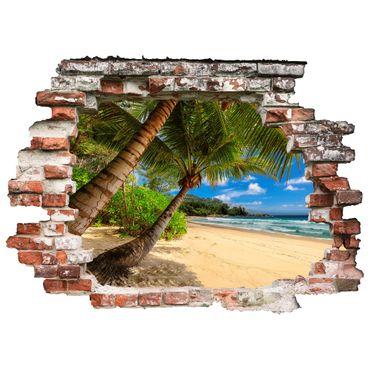 3D Wandtattoo Strand mit Palmen