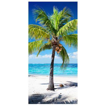 Raumteiler | Gardine Tropischer Strand - 120 x 250 cm – Bild 2