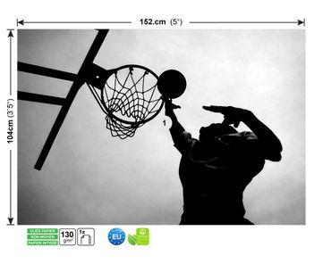 Fototapete Basketball | scharz weiß – Bild 4