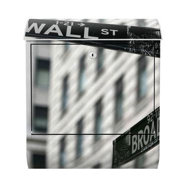 Design Briefkasten - Wallstreet New York - mit Zeitungsfach