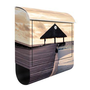 Design Briefkasten - Tropical Beach - mit Zeitungsfach   – Bild 2