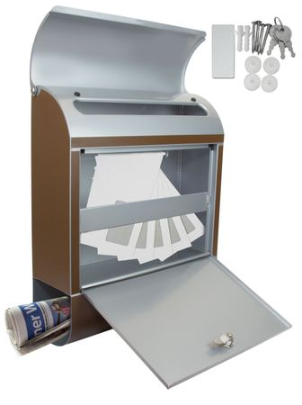 Design Briefkasten - Purple Metallwirbel - mit Zeitungsfach  – Bild 6