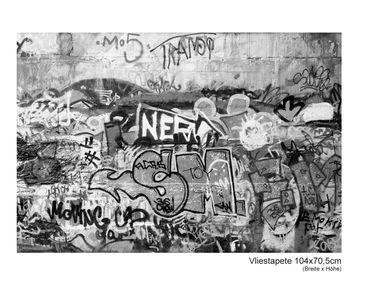 Fototapete Graffiti schwarz weiß