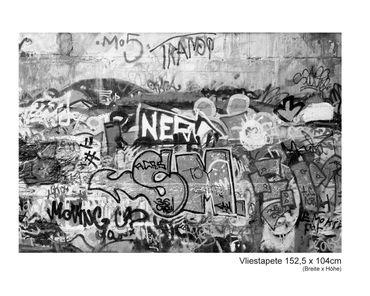 Fototapete Graffiti schwarz weiß – Bild 4