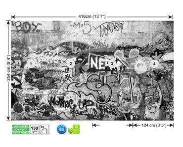 Fototapete Graffiti schwarz weiß – Bild 9