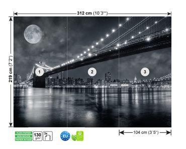 Fototapete Vlies Brooklyn by Night – Bild 8