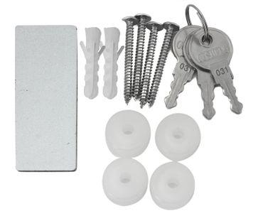 Design Briefkasten - Ocker mit weißen Punkten - mit Zeitungsfach  – Bild 4