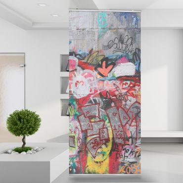 Raumteiler | Gardine Graffiti - 120 x 250 cm  – Bild 1