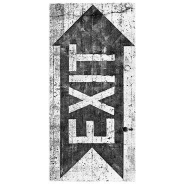 Raumteiler | Gardine Ausgang - Exit - 120 x 250 cm – Bild 2