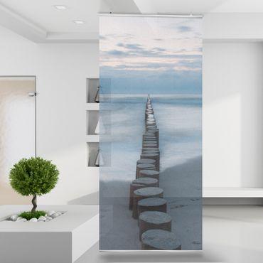 Raumteiler | Gardine Wellenbrecher - 120 x 250 cm