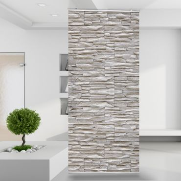 Raumteiler | Gardine Grey Stonewall - 120 x 250 cm – Bild 1