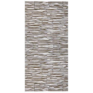 Raumteiler | Gardine Grey Stonewall - 120 x 250 cm – Bild 2