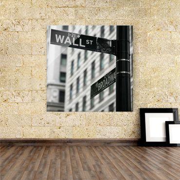 Acrylbild Wallstreet