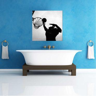 Acrylbild Basketball schwarz weiß – Bild 3
