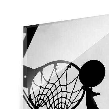 Acrylbild Basketball schwarz weiß – Bild 7