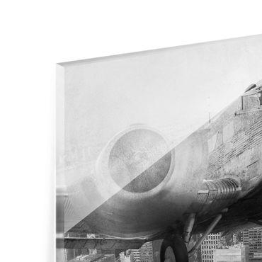 Acrylbild Junkers 52 schwarz weiß – Bild 7