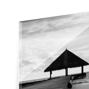 Acrylbild Tropical Beach | schwarz weiß – Bild 7