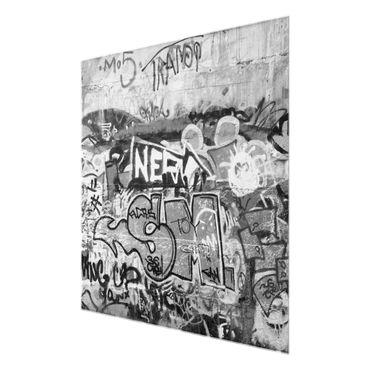 Acrylbild Grafitti schwarz weiß – Bild 6