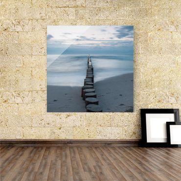 Acrylbild Wellenbrecher – Bild 1