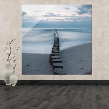 Acrylbild Wellenbrecher – Bild 2