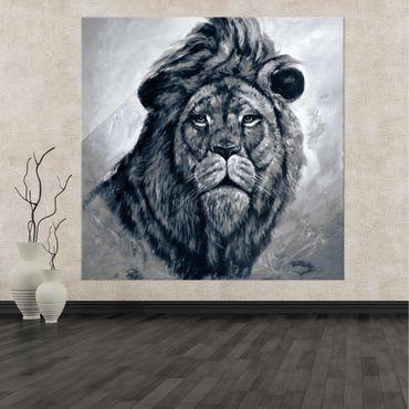 Acrylbild Löwenkopf in Schwarz – Bild 2