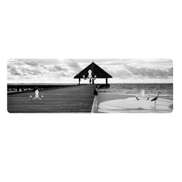 Wandgarderobe Tropical Beach quer