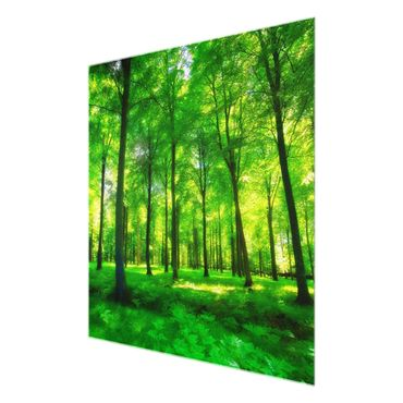 Glasbild Green Forest Lights – Bild 6