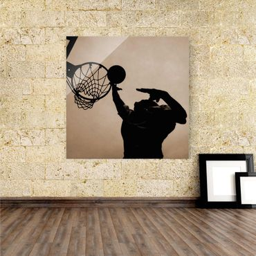Glasbild Basketball – Bild 1