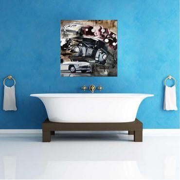 Acrylbild Old Cars Oldtimer Legends Auto Classic Bild Wandbild Acryl No.RID22 – Bild 3