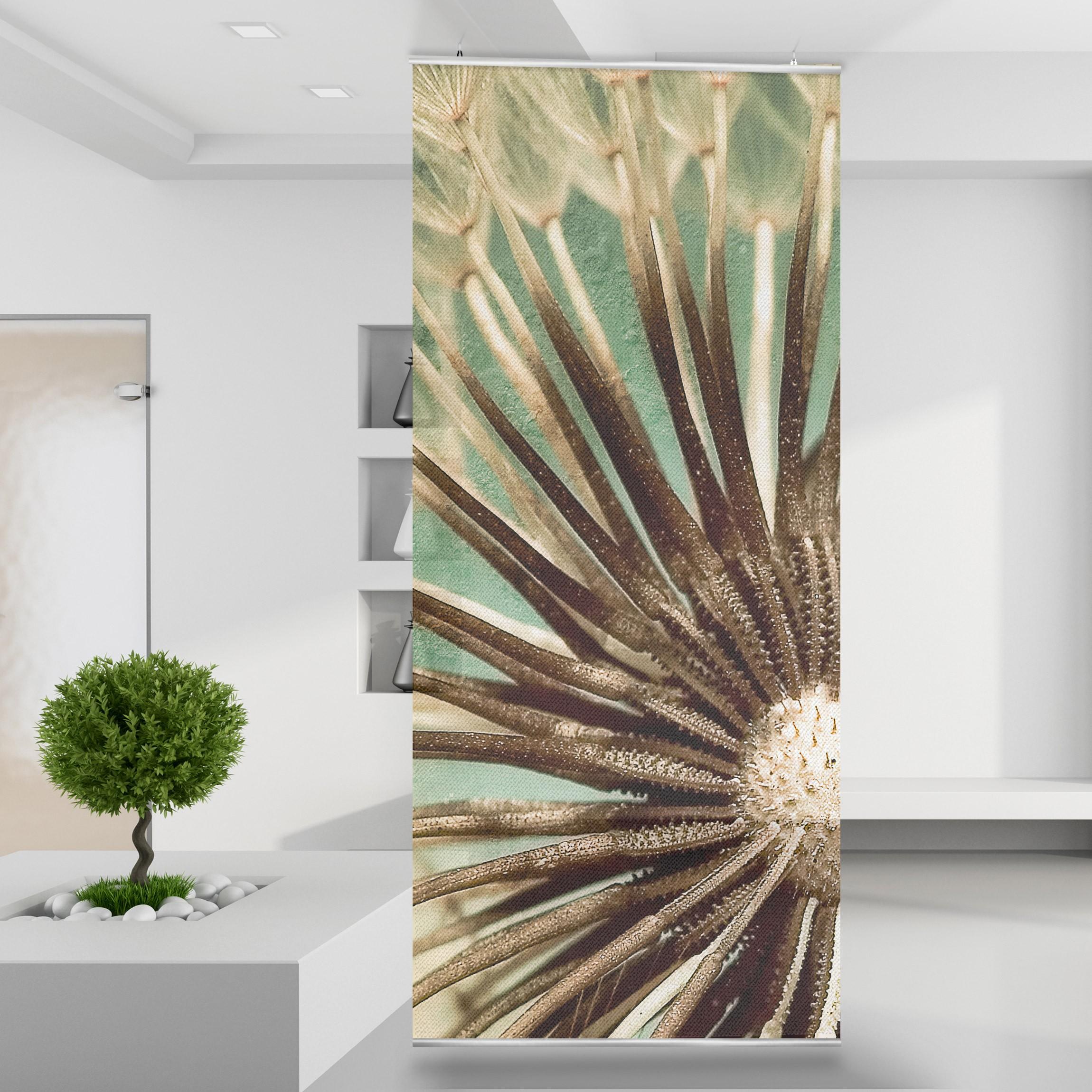 raumteiler pusteblume ii wiese natur wald pflanzen wand. Black Bedroom Furniture Sets. Home Design Ideas