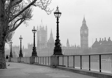 Fototapete London Fog Wand Bild Dekoration Modern XXL Bahn No.WG_00142